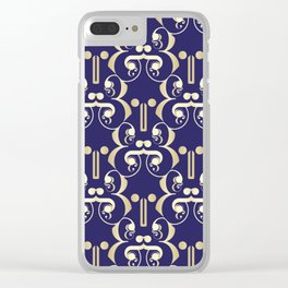 AND (NAVY) Clear iPhone Case