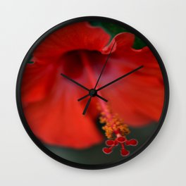 Brilliant Red Damsel Wall Clock