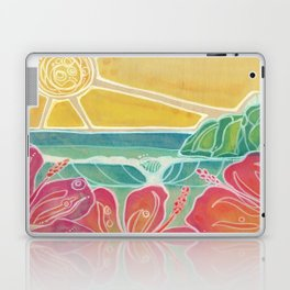 Triple Hibiscus Surf Art by Lauren Tannehill Art Laptop & iPad Skin