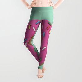 Who Wants a Donut - Pink & Green Leggings
