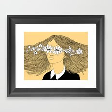 Flowers in My Eyes (Life in a Glimpse) Framed Art Print