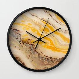 Golden Ocean Wall Clock