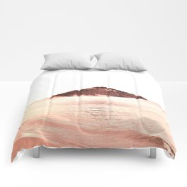 Coral Shades Minimal Beach Scape Comforters
