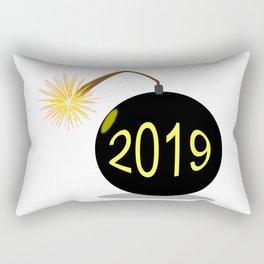 Cartoon 2019 New Year Bomb Rectangular Pillow