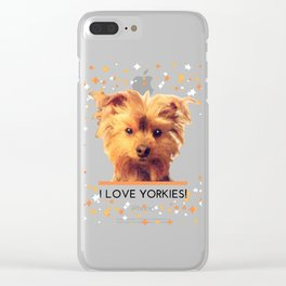 I LOVE YORKIES | Dogs | nb Clear iPhone Case