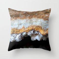 Travertine mineral Throw Pillow