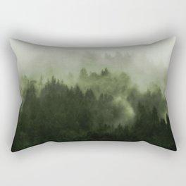 Drift - Green Mountain Forest Rectangular Pillow