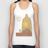movie posters Tank Tops featuring A New Hope Movie Poster by Ed Burczyk