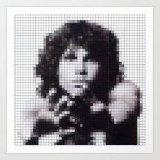 Jim Morrison / The Doors Pixel Image Art Print