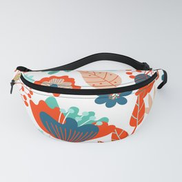 Summer Flowers Colorful Pattern Fanny Pack