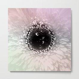 Black & White Daisy Flower Pastel Accents Metal Print