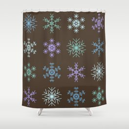 Cute Modern Christmas Snowflakes Regular Repeating Seamless Pattern Shower Curtain