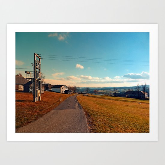 Scenic view at indian summer | landscape photography Art Print