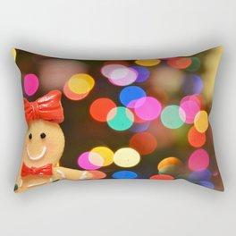 Gingerbread Bokeh Rectangular Pillow