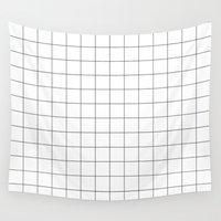 grid Wall Tapestries featuring Grid by STATE OF THE HEART