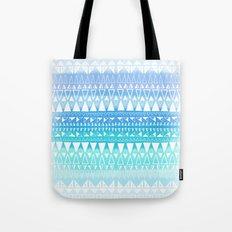 Triangle Gradient Aqua Mix Tote Bag