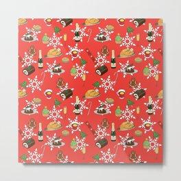 Christmas food festive pattern Metal Print