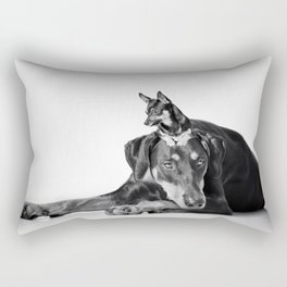Best Buds - Dalmatian and Chihuahua Dogs Rectangular Pillow