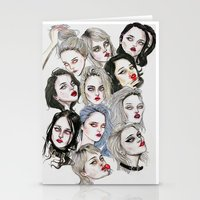 sky ferreira Stationery Cards featuring Sky Ferreira Collage by Lucas David