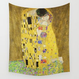 The Kiss - Gustav Klimt, 1907 Wall Tapestry