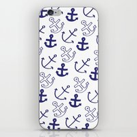 anchors iPhone & iPod Skins featuring Anchors by Sarah Liddell