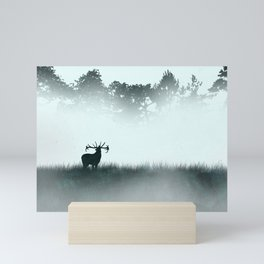 The male deer - minimalist landscape Mini Art Print