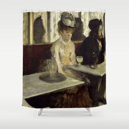 """Edgar Degas """"The Absinthe Drinker (Au Café, l'Absinthe)"""" Shower Curtain"""