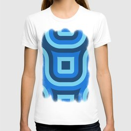 Blue Truchet Pattern T-shirt