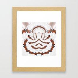 Red Land 7 Framed Art Print