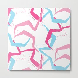 Pink blue fantasy Metal Print