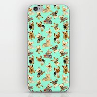 yorkie iPhone & iPod Skins featuring Yorkie Pattern by Bark Point Studio