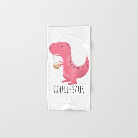 Coffee-saur | Pink Hand & Bath Towel