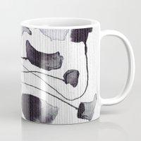 yetiland Mugs featuring ink flowers by Georgiana Paraschiv