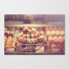 Macaron Shop  Canvas Print
