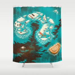 Malaysian Mystery Shower Curtain