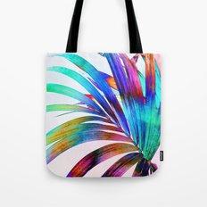Multicolor Palm Leaf Tote Bag
