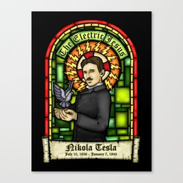 Tesla: The Electric Jesus Canvas Print