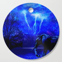 ELEPHANT LIGHTNING AND AFRICAN NIGHTS Cutting Board