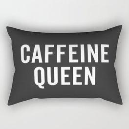 Caffeine Queen Funny Quote Rectangular Pillow