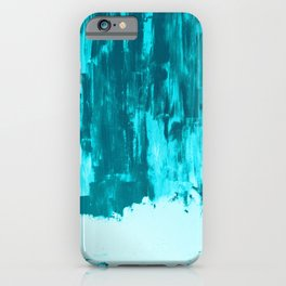 Bright Blue Snow Nights with Icicles iPhone Case
