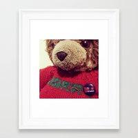 harry Framed Art Prints featuring Harry by Rhys Owain Williams