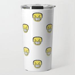 Angry Emoji Graphic Pattern Travel Mug