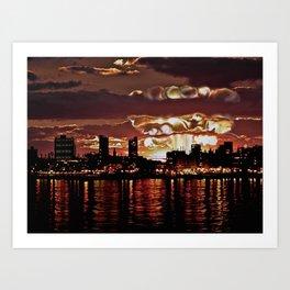 Angry Sunset. Art Print