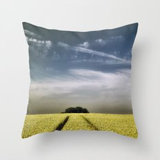 Tree Tracks Throw Pillow