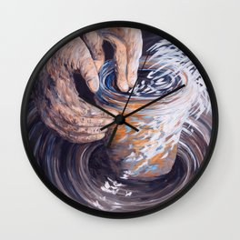 In the Potter's Hands Wall Clock