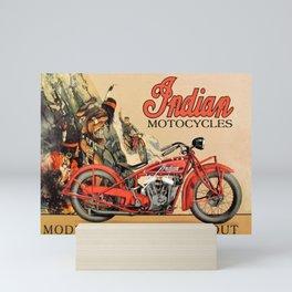 Classic Indian Roadmaster Biker Motorcycle Vintage Advertisement Poster Mini Art Print