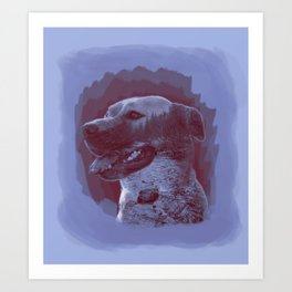 Nature Dog Art Print