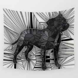 Staffordshire Bull Terrier Mosaic Wall Tapestry
