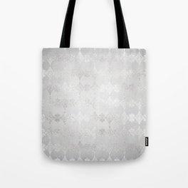 Metallic Silver Geometric Tote Bag