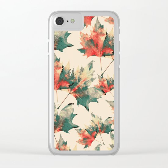 LEAVES 6 Clear iPhone Case